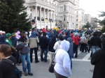 : #JusticeForTrayvon protest at Baltimore city hall stopped traffic at rush hour - #trayvon #trayvonmartin