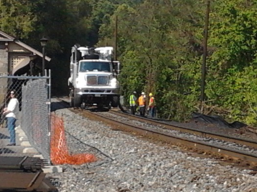 Yesterday's #bike trip - Ellicott City #csx train #derailment clean up continues - #biking