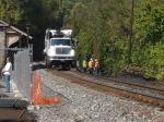 Yesterday's #bike trip - Ellicott City #csx train #derailment clean up continues - #biking